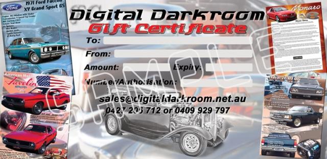 Show Boards Digital Darkroom Gift Certificate