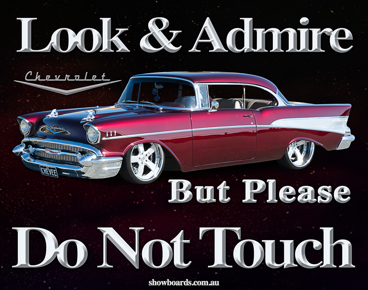 Classic Car Do Not Touch Signs