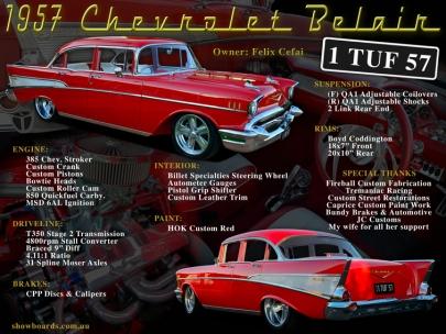 1957 Chevrolet Belair Show Board Display Board