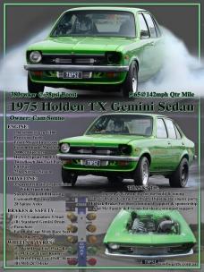 Holden Gemini car show board display board show boards australia