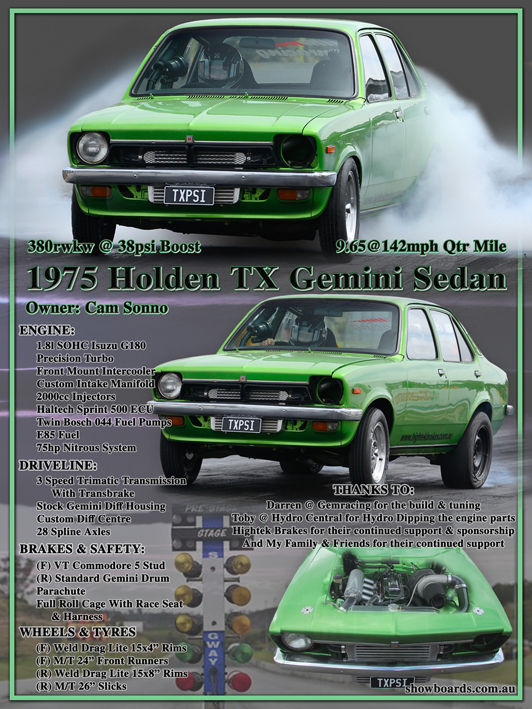 Holden Gemini car show board display board show boards australia