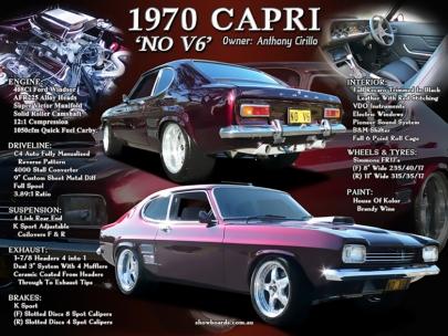 Ford Capri car show board display board show boards australia