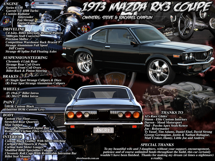 Mazda RX3 Car Show Board Display Board Show Boards Australia