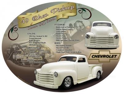 Chev pickup ute special oval car show board display board show boards australia