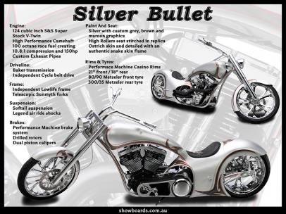 Chopper Harley Davidson motorcycle motorbike show board display board show boards australia