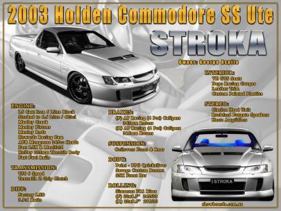 Holden Commodore Ute Show Board Display Board