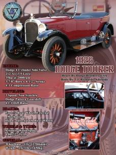 Dodge Tourer car show board display board show boards australia