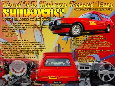 Ford XD Sundowner Panel Van Show Board Display Board
