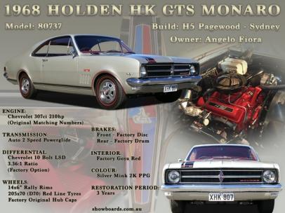 Holden Monaro car show board display board show boards australia