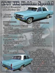 Holden HR Sedan Show Board Display Board