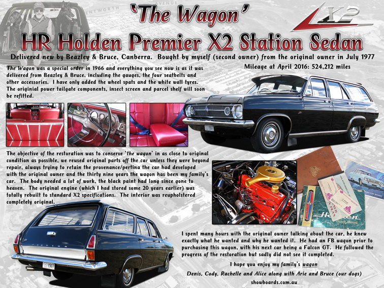 Holden Wagon Car show board display board show boards australia