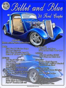Ford Hot Rod Coupe car show board display board show boards australia