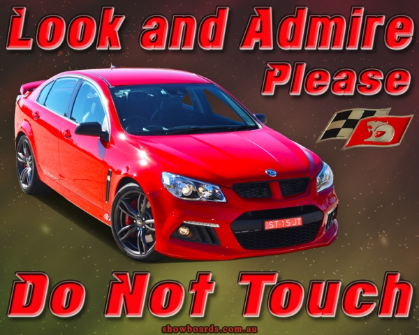Look & Admire Do Not Touch Sign For Car Show