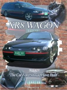 Ford XR8 Wagon car show board display board show boards australia