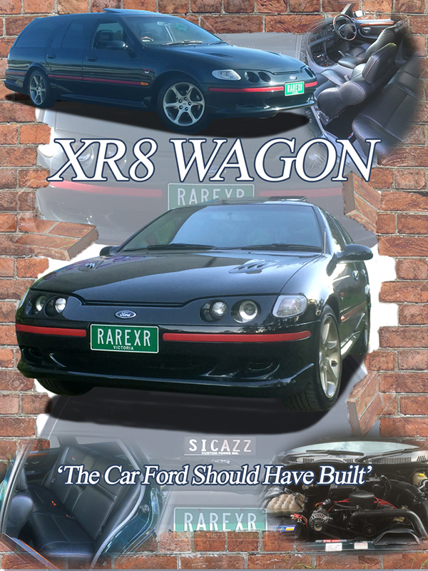 Ford XR8 Wagon car show board display board show boards australia