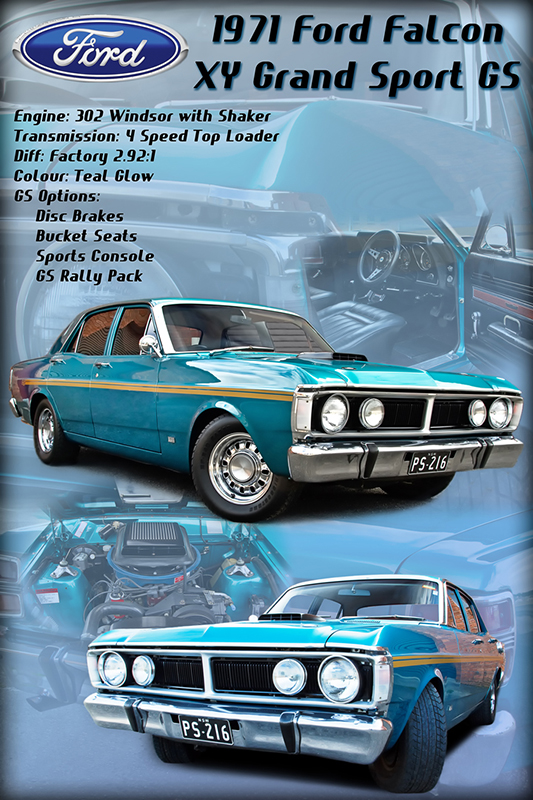 Ford Falcon Car show board display board show boards australia