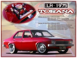 LH Torana montage show board printed on aluminium