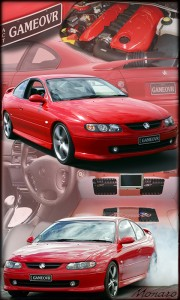Holden Monaro montage show board printed on aluminium