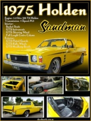 Holden Sandman Ute montage photo print show board