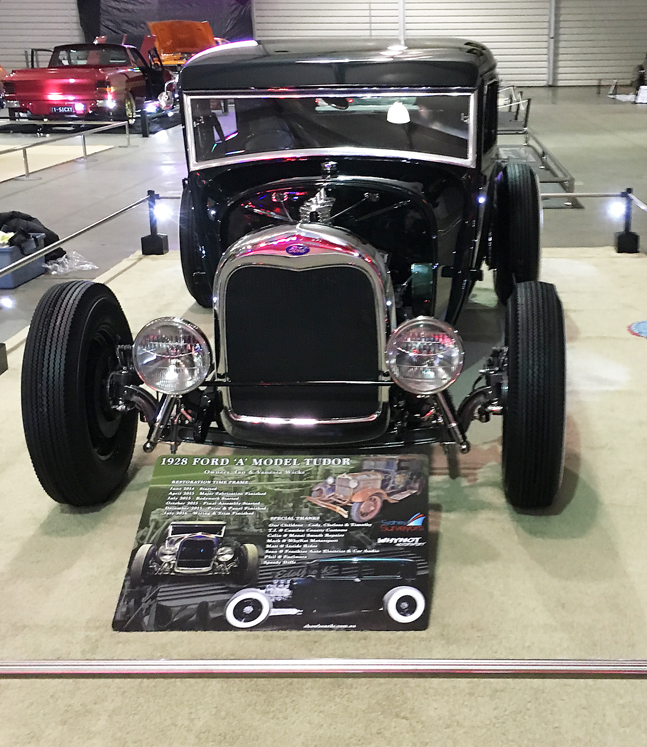 Ford Tudor hot rod perspex acrylic display board show board show boards australia