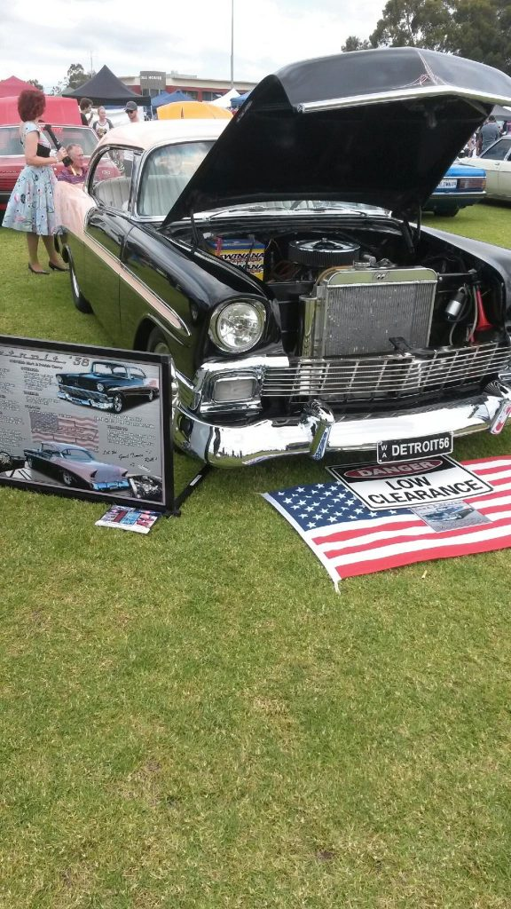 56 Chev aluminium composite car show board display board show boards australia