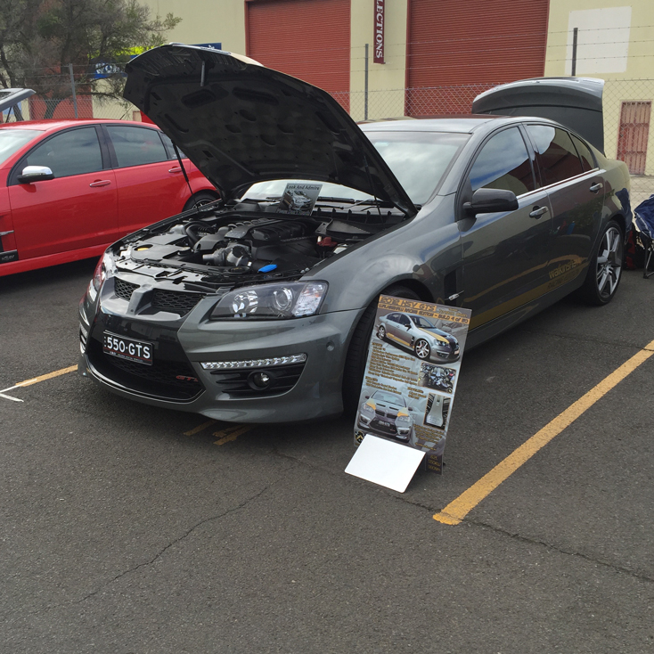 HSV GTS aluminium show board display board show boards australia