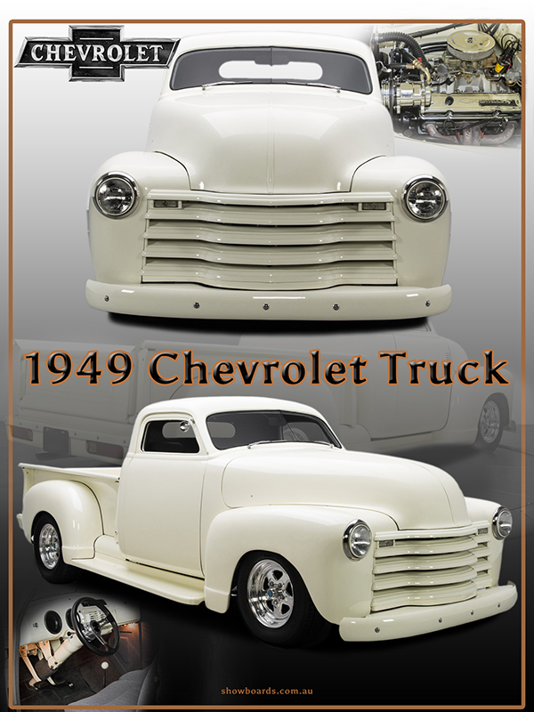1949 Chevrolet Pickup Truck montage show board printed on lustre photo paper